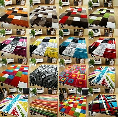 £44.50 • Buy New Modern Small Extra Large Carved Quality Colourful Thick Runner Rugs Mats UK
