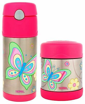 AU45.95 • Buy NEW Thermos Funtainer Girls Insulated Food Container Drink Bottle Pink Butterfly