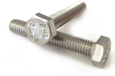 AU8.10 • Buy Qty 5 Hex Set Screw M8 (8mm) X 80mm Stainless Steel SS 304 A2 70 Bolt