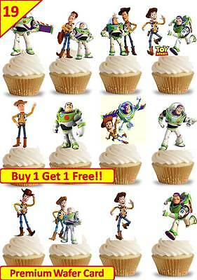 38 TOY STORY Woody Buzz Lightyear Cup Cake  Edible Decorations Toppers STAND UP • 4.38£