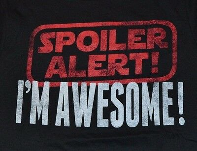 Hybrid Apparel  T-Shirt SPOILER ALERT! I'M AWESOME Mens Tee Size Small • 7.09£