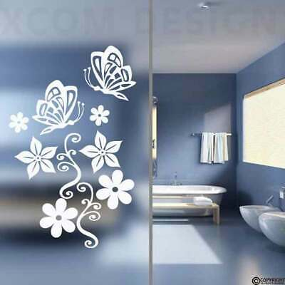 Butterfly/Flower Stickers,Bathroom Wall,Door Glass,Shower Screen • 13.99£