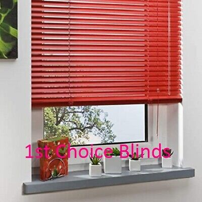 Red Aluminium Metal Venetian Window Blinds Made To Measure Child Safe • 44£