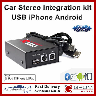 GROM USB3 MP3 Samsung Android IPod IPhone Interface For FORD Focus Fiesta Transi • 139.99£