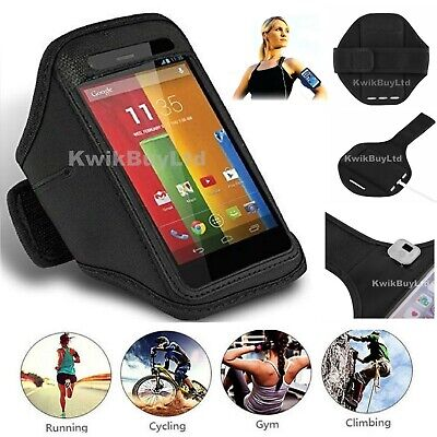 Black Sports Running Jogging Cycling Gym Exercise Armband Case For IPhone 6 / 6S • 3.99£