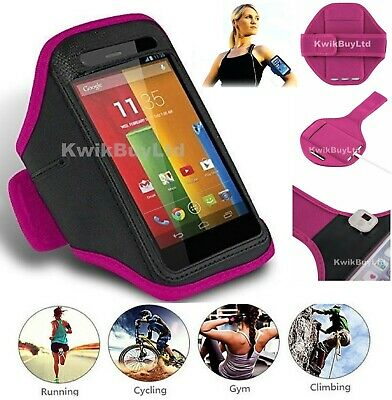 Pink Sports Running Jogging Gym Armband Case Cover For IPhone 5 / 5S / 5C / SE • 3.99£