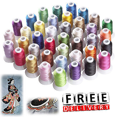 $39.94 • Buy Machine Embroidery Thread Polyester 40 Spools Vibrant Colors Lot Each Brother