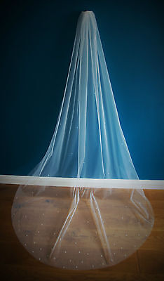 Bridal Veil *Cathedral Length*1 Tier*the Falling Star*crystal&pearl *Bespoke * • 39.99£