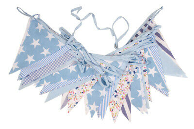 £11.50 • Buy Cotton Bunting Vintage Floral Wedding Party Events Pink Or Blue 12 Metres 40ft