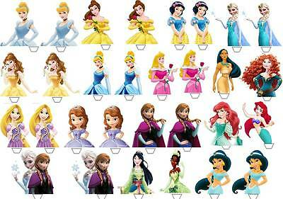 £3.89 • Buy 30 X DISNEY PRINCESS HALF BODY Edible Cup Cake Toppers Premium Wafer *STAND UP*