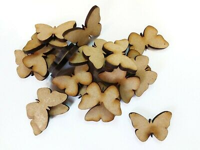 Wooden Craft BUTTERFLY Shapes, Laser Cut 3mm Mdf Embellishments, Decoupage,  • 2.74£