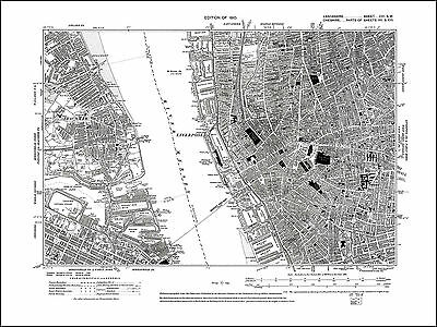 £17.99 • Buy Old Map Of Liverpool West, Lancashire 1910: 106SW Repro