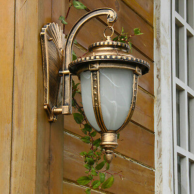 Classic Rust Outdoor Wall Lantern, Wall Mount , Garden Light, Sconce,Path Lamps • 23.99£