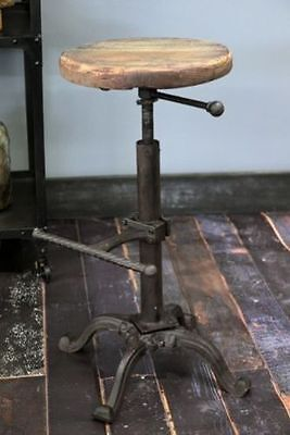 AU110.67 • Buy Industrial Urban Bar Stool Wooden Top Shabby Vintage Chic Kitchen Tractor Seat