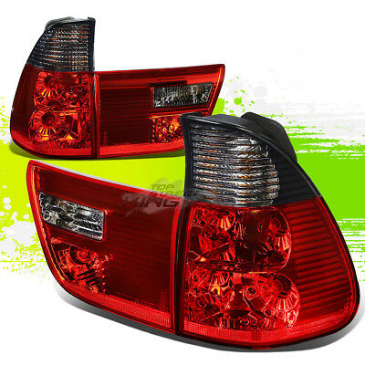 $106.94 • Buy For E53 00-06 Bmw X5 Smoked Housing Red Led Rear Signal Tail Lights/lamps Kit