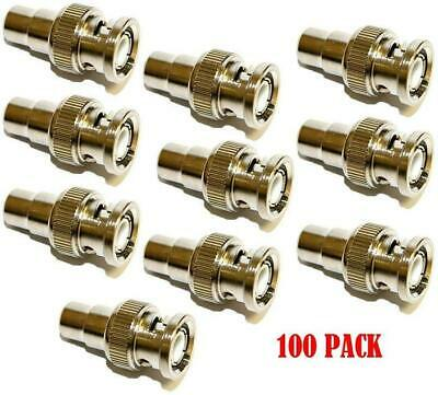 $ CDN33.39 • Buy Coaxial Video Cable BNC Male Plug To RCA Female Jack Adapter Connector (100/pk)
