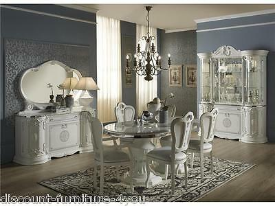 Luxury Italian White Living & Dining Room Furniture With Diamante Inserts • 200£