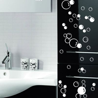 £1.99 • Buy 86 Floating Bubble Wall Paper Decal Bathroom Tile Window Decoration Art Stickers
