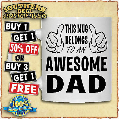 PERSONALISED AWESOME PHOTO MUG Christmas Birthday Fathers Mothers Valentines Cup • 6.49£