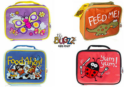 *FIVE DESIGNS* Bugzz Kids School Lunch Box Bag Insulated Lunch Childs Girls Boys • 6.95£