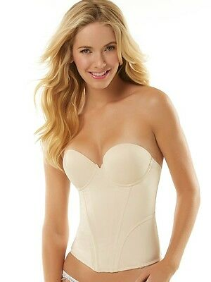 Jezebel Bustier Seamless Smooth Cups Low Back Push Up #32533, BCD-DD-32 To 38  • 49.50£
