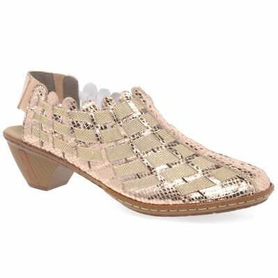 £59.99 • Buy Rieker Sina Leather Woven Heeled Shoes