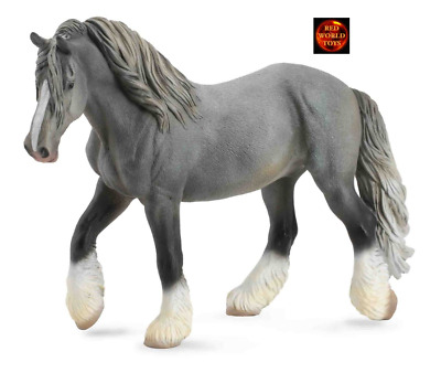 Shire Grey Mare Horse Toy Model Figure By CollectA 88574 New With Tag • 11.99£