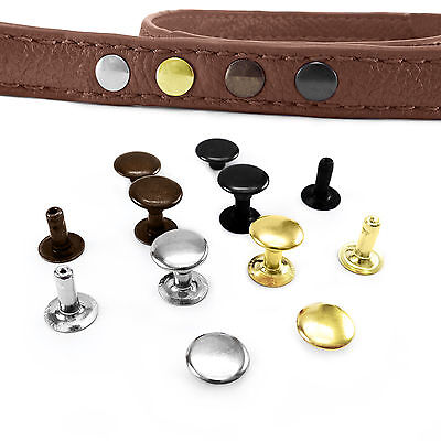 Solid Brass Single Cap Rivets 6 7 9 Mm Cap Diameter Studs Leather Craft Rapid  • 3.99£