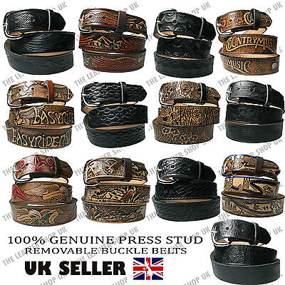 £32.99 • Buy Genuine Country And Western Leather Belt Removable Buckle Made In USA Mens Belts