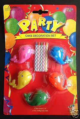 £4 • Buy PARTY Novelty Cake Candles & Holders - Planes, Whales, Transport  & Teddy Bears