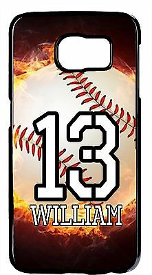 $ CDN18.43 • Buy Personalized Number & Name Baseball Case Cover For Samsung Galaxy S9 Plus Note 8