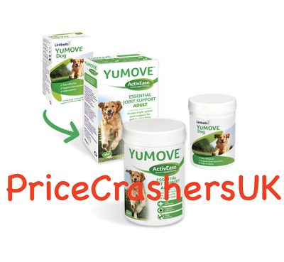Lintbells Yumove Dog Cat Or Puppy Supplement Tablets 60/120/300 Joint Mobility • 23.89£