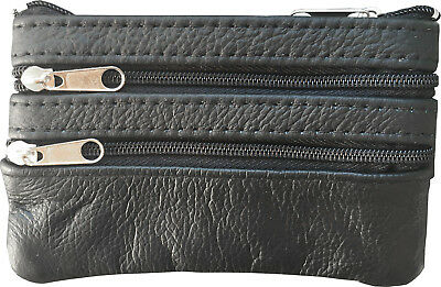 $6.99 • Buy Men, Woman, Genuine Leather Coin Purse Cowhide Change Purse Coin Pouch, Key Ring