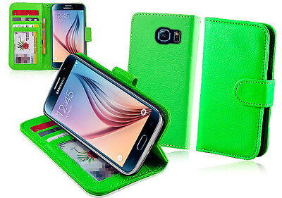 $ CDN7.58 • Buy Green Wallet Leather Case Cover For  Samsung Galaxy S6 Edge