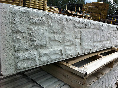 Concrete Fence Gravel Board - Smooth/Rock Face - FREE DELIVERY 50 MILES BOSTON • 11.68£