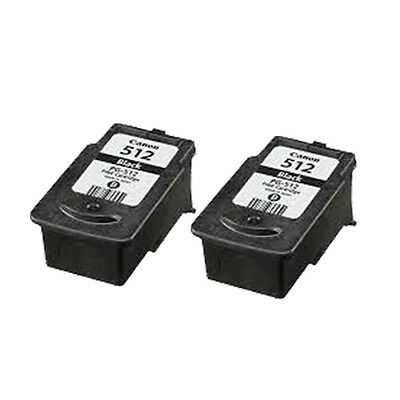 £31.07 • Buy 2 Black Remanufactured Ink Cartridge For Canon IP2700 IP2702 MP235 MP250 PG512