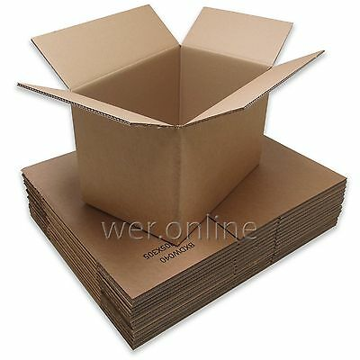 Extra Large (XXL) Strong DOUBLE Wall Removal Moving Cardboard Boxes Home Move • 15.97£
