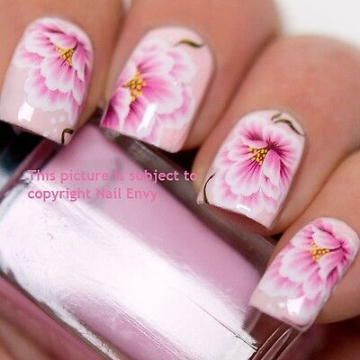 £1.99 • Buy Pink Lily Rose Wedding Nail Art Design Decals Water Transfers Stickers #159