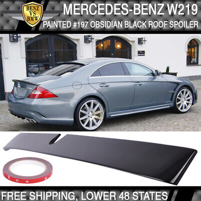 Carbon Fiber L Style Rear Roof Glass Spoiler Wing for 07-10 Mercedes W219 CLS
