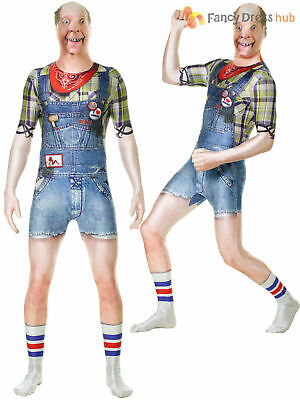 Adults Hillbilly Faux Real Morphsuit Mens 3D Novelty Costume Stag Do Fancy Dress • 37.95£