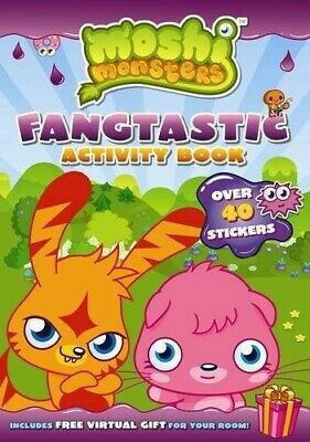 Moshi Monsters Fangtastic Activity Book With Stickers - Good Book Sunbird • 2.80£