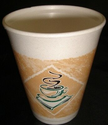 100 X Drinking Cup 10oz (Printed Cafe G) Foam / Polystyrene CATERING (0821/10)  • 10.05£