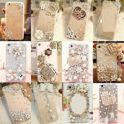 3D Luxury Bling Jewelled Crystal Diamonds Hard Clear Case Cover For Cell Phones • 5.98£