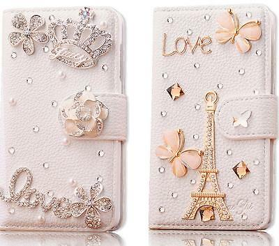 £6.50 • Buy 3D Cute Bling Rhinestone Diamond Leather Flip Wallet Stand Card Phone Case Cover