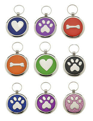 Pet Id Tags DOG Discs,  Premium Personalised Engraved Quality Puppy Cat Id Tags • 4.10£