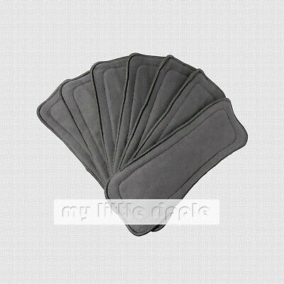 AU21.99 • Buy 6 X 5-layer Reusable Bamboo Charcoal Inserts / Liners For Modern Cloth Nappies