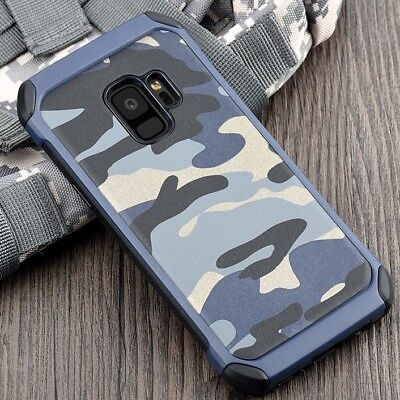$ CDN11.91 • Buy Camouflage Samsung Galaxy S6 S7 S8 S9 Plus Note Military Case Camo Army Rubber