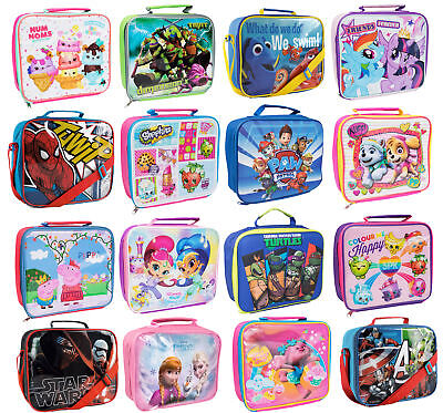 Kids Character Lunch Bag Insulated Cool Snack Box School Nursery Travel Bag  • 6.49£