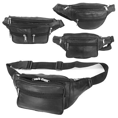 Bum Bag Real Leather Fanny Pack Travel Festival Money Pouch Waist Belt Wallet • 4.99£