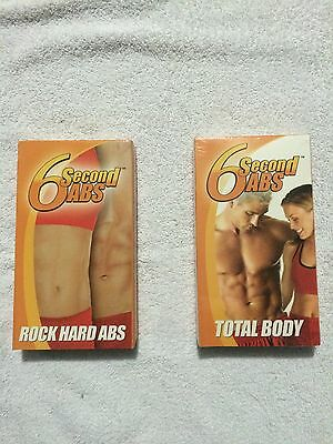 AU12.70 • Buy 6 Second Abs - Rock Hard Abs (VHS) & 6 Second Abs - Total Body (VHS)